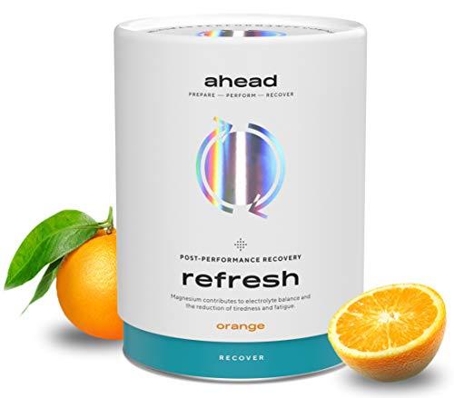 ahead REFRESH Post Workout Recovery Drink, Isotonisches Getränkepulver zur Regeneration 450g, Vegan mit Magnesium, Elektrolyte, L-Citrullin, Kreatin, KSM66 Ashwagandha, LCLT, Made in Germany