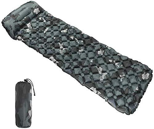 Hammer Ultraléger Sleeping Pad, Design cellulaire, intégré dans l'oreiller, une meilleure stabilité Prise en charge ultra-compact for Backpacking, Camping, Voyage avec des cellules d'appui aérien Conc
