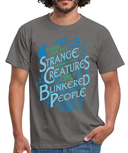 Spreadshirt Fantastic Beasts Strange Creatures Men's T-Shirt, 3XL, Graphite Grey