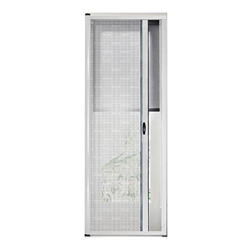 Zanzariera universale a rullo frizione per porte zanzariere kit EASY UP Bianca 150x250cm
