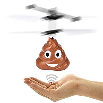 Toamen Newest Kids RC Toys, LED Mini Induction Suspension RC Aircraft Flying, Hand Flying Poop Ball Mini Induction Suspension RC Aircraft Flying Toy Drone, Flying Toy for Boys and Girls