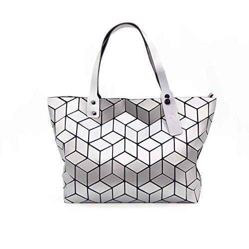 KAISIBO Unique Design Geometric Lattice Handbag Totes Purses for women