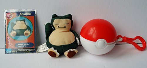 SNORLAX Pokemon Buger King Kids Meal Mini Plush Bean Bag - 1999