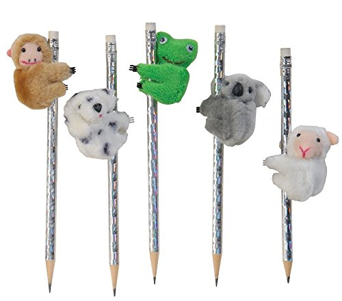 Raymond Geddes Clip On Cuddles Plush Animal Clip, 12 Pack (67582)
