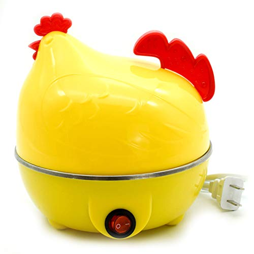Zuhause Eierkocher, Eier Dampfer Huhn geformt Eierkocher Neuheit Küche Kochwerkzeug Heiße Milch Frühstück Ei-Dampfer Elektrischer Eierkocher Weiß Gelb,B
