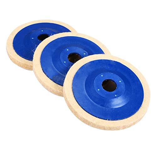 3pcs 4INCH Wolle Polierscheibe Polierscheibe Schleifer Polierscheiben-Pads aus Filz for Holz Polieren Metallschleifscheiben XIAO DIAO
