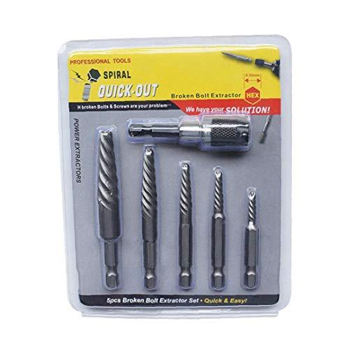 AAGOOD-6Pcs / Set Schraubenausdreher Gebrochene Schraube Polituren Beschädigte Schraube Removal Tool Bohrer Werkzeuge für gebrochene Schrauben entfernen