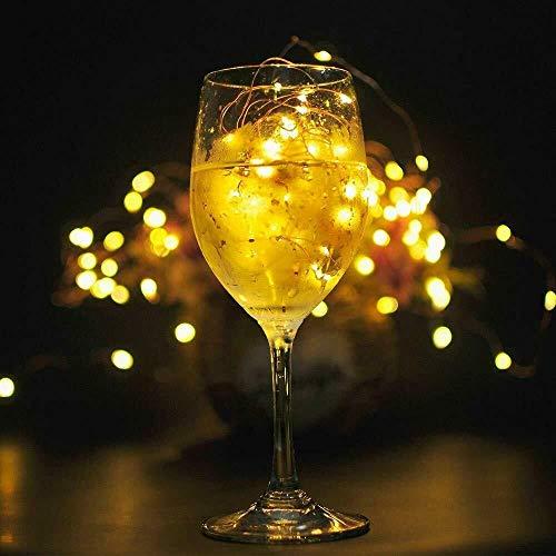 6 Pack Bottle Lights Cork LED Wine Bottle Cork with 30 Lights on a 3 Metre String Battery Operated AG13