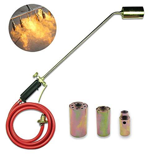 WHYTT Herbicida Extintor Quemador de Gas butano Soplete - Ligero Metal Resistente construcción 1300C Multifuncional malezas Quemador