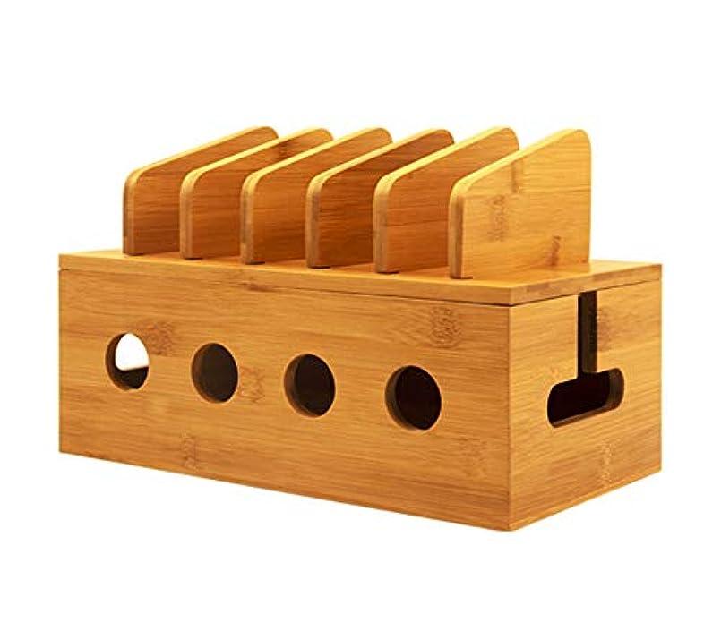 懇願する醸造所審判ケーブル管理ボックス、多機能竹ワイヤーオーガナイザー、デスクトップハブボックス、家庭、オフィス、キッチン