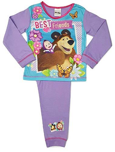 Pijama para niñas de 18 meses a 5 años, diseño de Masha y el oso