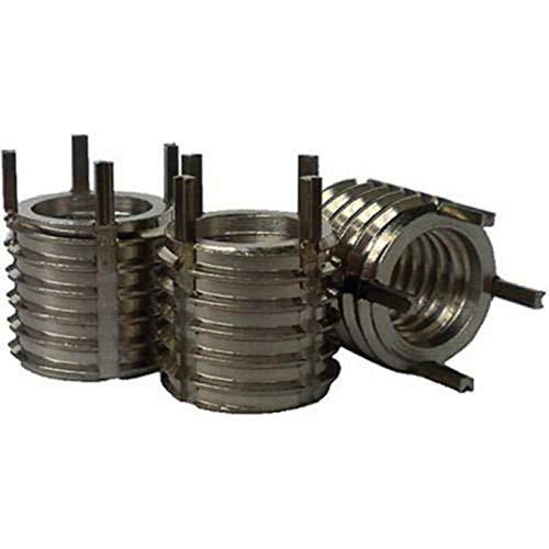 Recoil 75081P Thin Wall Key Locking Insert, Internal M8 x 1.25, Class 6H, External M12 x 1.25, Class 6G, C1215 Steel W/