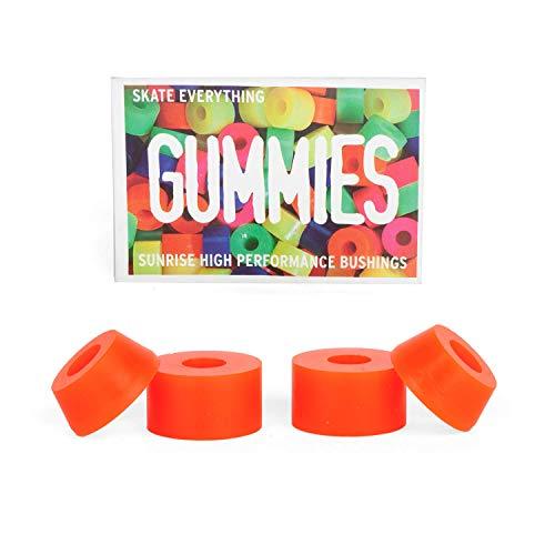 Sunrise Street Bushings Barrel Cone Lenkgummis 80A extra Soft orange - Set für 2 Skateboard Achsen