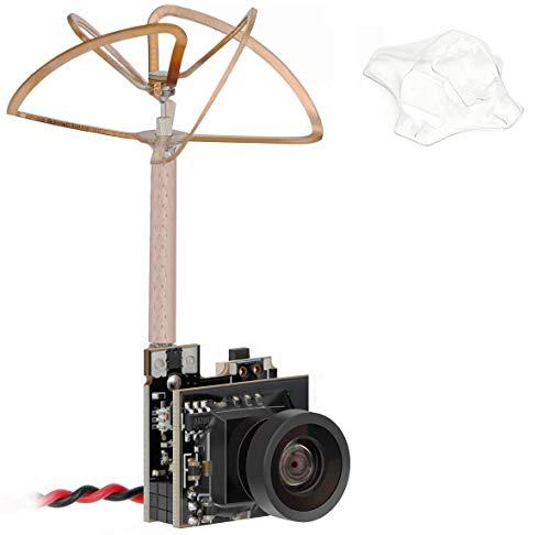 Hootracker Tiny Whoop FPV AIO Kamera 5,8 g 40 CH 25 mW Transmitter mit Zirkular polarisierte Kleeblatt Antenne für Blade inductrix etc