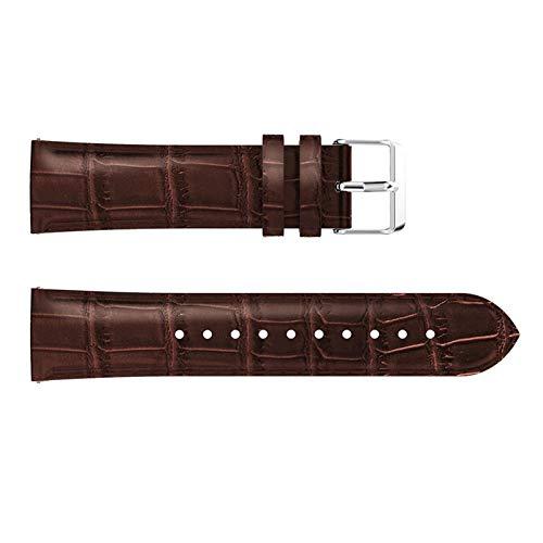 HHKHFA Correa de reloj para Huawei Watch GT2 de 42 mm y 46 mm de repuesto para Samsung Galaxy Watch de 46 mm (color de la correa: marrón, ancho de la correa: GT 46 mm)