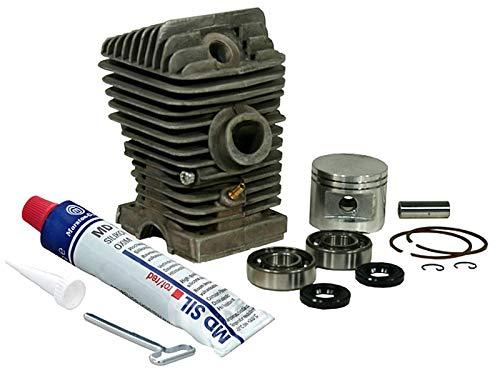 Sägenspezi Zylinder Kolben Set passend für Stihl 023 MS230 MS 230 42,5mm (neueste Version) inkl. Dichtsatz und Kurbelwellenlager