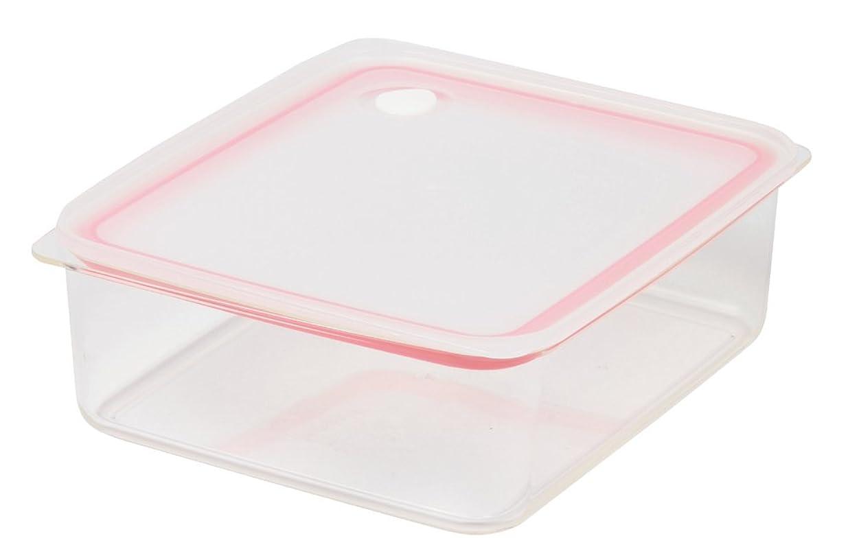 蒸留卑しいを通してパール金属 Easy Clean 深型 密閉 保存容器 L ピンク 【日本製】 HB-2626