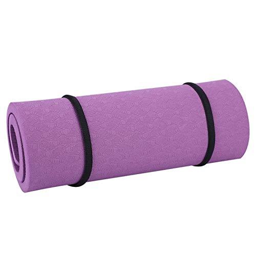 VGEBY Cuscino per Yoga, Cuscino per Yoga Cuscino per Tappetino per Ginocchiere Eva Yoga Fitness Allevia Il Dolore Rispettoso dell'ambiente (380 * 210 * 8mm)(Viola Scuro)