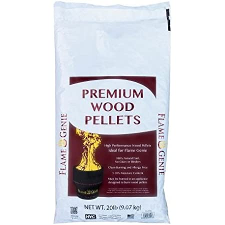 Amazon Com Hy C Flame Genie Premium Wood Pellets Home Kitchen