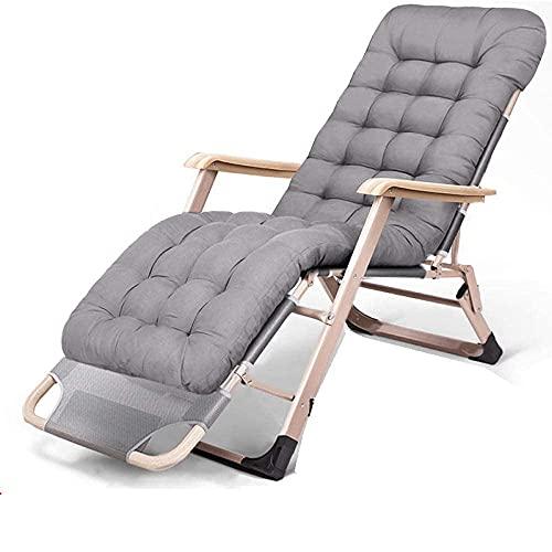Silla plegable de gravedad cero, reclinable, plegable, para el almuerzo, para siestas, cama reclinable de gravedad cero, balcón, hogar, ocio, playa, silla portátil, silla de sofá perezoso-9 WHY666