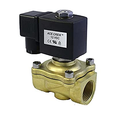 3/4 inch 12V DC VDC Brass Electric Solenoid Valve NPT Gas Water Air Normally Closed NC from AceCrew