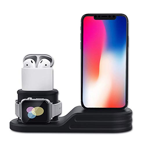 3 in 1 Charging Stand Holder Compatible with Apple iWatch Series 5/4/3/2/1,...