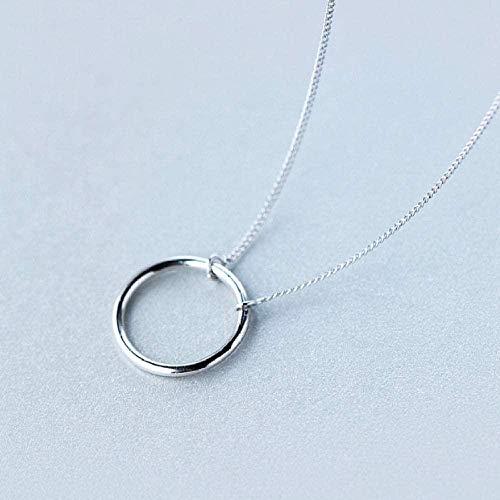AOAOTOTQ Co.,ltd Halskette Runde persönliche Anhänger Halskette Senior Women S Schmuck Zubehör