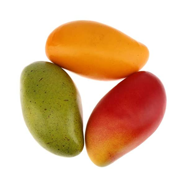 Gresorth 3pcs Artificial Lifelike Mango Decoration Fake Fruit Home Party Kitchen Table Food Show