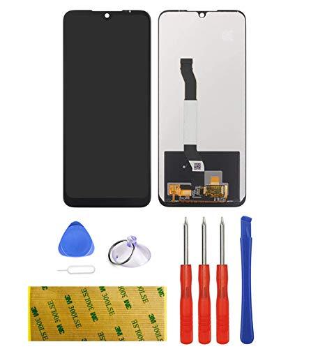 LTZGO - Pantalla de repuesto compatible con Xiaomi Redmi Note 8T de reparación y sustitución LCD, herramientas incluidas, pieza de película protectora de cristal templado, destornilladores (negro)