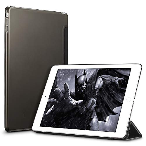 ESR Hülle kompatibel mit iPad Mini 3/ iPad Mini 2/ iPad Mini - Ultra Dünnes Smart Case mit Auto Schlaf-/Aufwachfunktion - Kratzfeste Schutzhülle mit Transparenter Rückseite - Schwarz