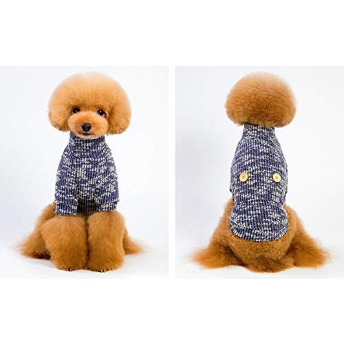 SYC Pet Puppy Leuke Coltrui Hond Sweater Warm Jas Sweater Hoodie, L, C