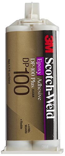 3M Scotch-Weld Epoxy Adhesive DP100 Plus Clear, 1.69 oz (Pack of 1) by 3M