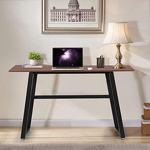 escritorio de pared, 45 pulgadas Moderno Simple Style Computer Disponible, Escritorio de oficina en casa robusto para espacio pequeño, madera y mesa de escritura de metal, Estación de trabajo multipro