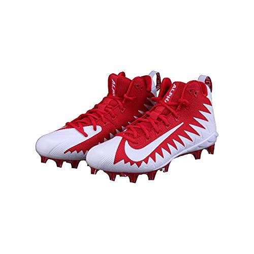 Nike Mens Alpha Menace Shark Low Top Lace Up Running, Red White, Size 10.0