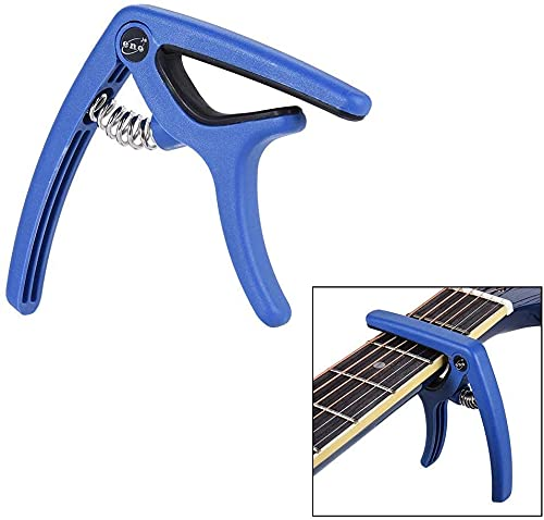 Cejilla Universal TPM- ENO EGC3 BL Azul Capo para Guitarra Eléctrica, Acústica, Clásica y Bajo - Rockmusic España