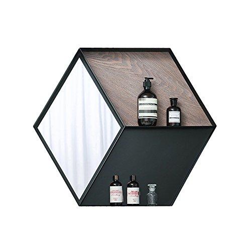 YJXJJD - Estante de Almacenamiento para Pared (60 69 8 cm), Color Negro