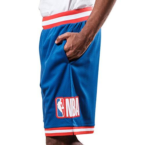 Ultra Game NBA Herren Woven Active Basketball Shorts, Herren, Shorts, Mash Chrome Shorts, königsblau, Small