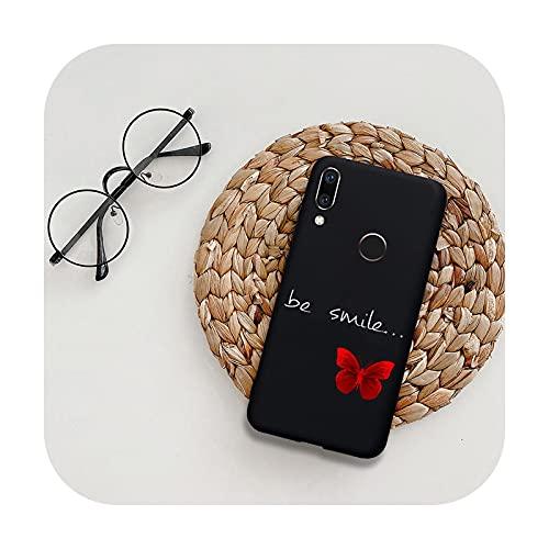 Funda de silicona para Huawei P20 P30 P40 Lite E Honor 9 10 10i Lite 20 30 Pro 9A 8A 9C mariposa flor suave TPU contraporta-BT 8 negro-Para Honor 30 pro