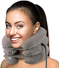 Inflatable Cervical Neck Traction Device | Neck Stretcher and Cervical Collar | Neck Brace for Neck Pain and Support | Neck Pain Relief Pillow for Decompression with Pump FDA Approved