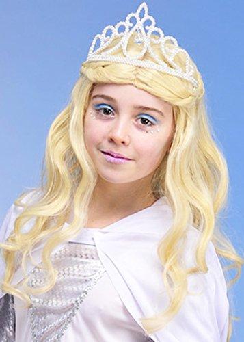 Filles la tiare de sorcière paillettes Snow Queen blanc