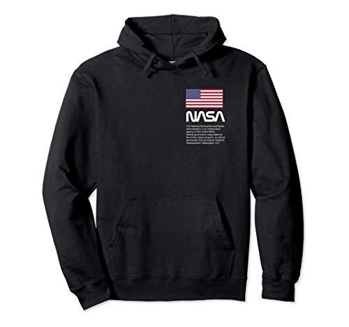 US Flag NASA Worm Nasa Pullover Hoodie