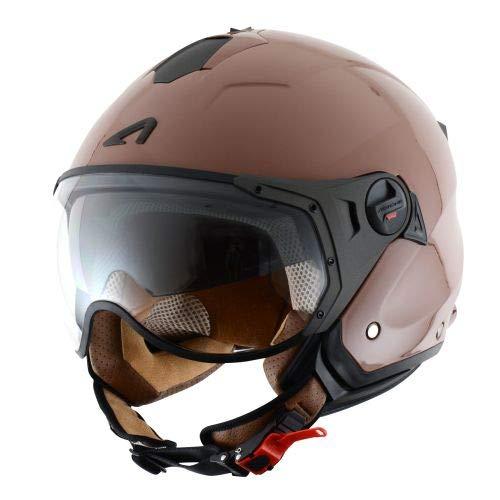 Astone Helmets MINISPORT-MBKM Minijet Sport - Casco de motocicleta, Negro Mate, M