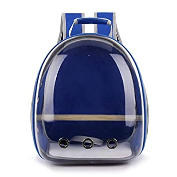 HavanaYZ Sac de transport pour perroquet respirant 360° Transparent bleu