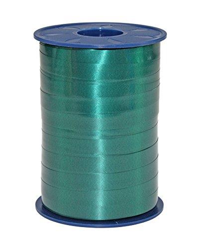 C.E. PATTBERG Geschenkband tannengrün,  250 Meter Ringelband 10 mm zum Basteln,  Dekorieren & Verpacken von Geschenken  zu jedem Anlass