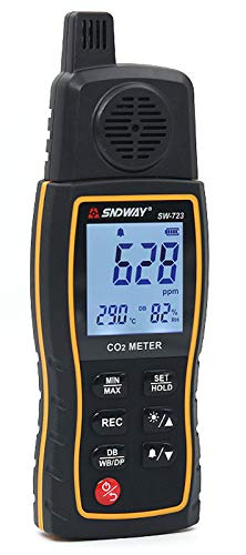 RSTJ-Sjap 0-9999PM Messen R-Ange Hochpräzise Kohlendioxid-Detektor, CO2-Gaskonzentrationstester Alarm Air Quality Analyzer