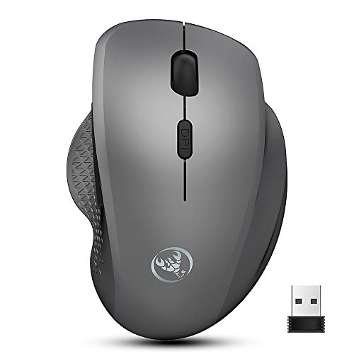 Docooler HXSJ T68 Wireless Ergonomic Mouse Mute 2.4GHz Wireless Mouse with Adjustable DPI for Laptop/Computer Internet Surfers
