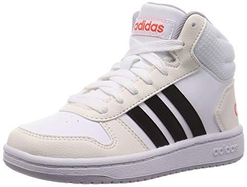adidas Hoops Mid 2.0 K, Scarpe da Ginnastica Unisex-Bambini, Ftwbla/Negbás/Seroso, 30 EU
