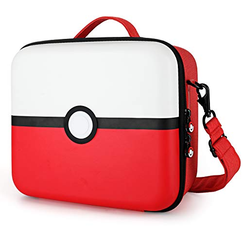 Tombert Travel Carrying Case For Nintendo Switch, Pokemon design, Deluxe Protective Hard Shell Carry Bag Fits Pro Controller for Nintendo Switch Console & Accessories