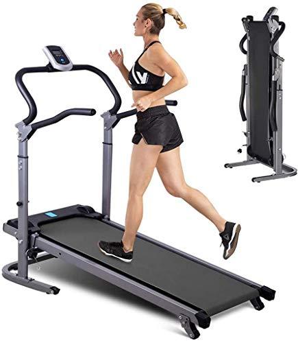Versión larga y ampliada multifuncional de la cinta de correr mecánica que absorbe los golpes para el gimnasio en casa Entrenamiento físico Correr Caminar Correr Cinta de correr plegable para el hogar