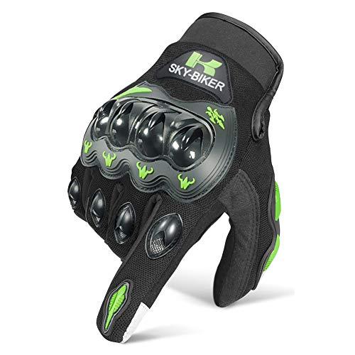 Cokomono Guanti da Moto, Guanti Moto Antiscivolo Traspirante Touchscreen per Ciclismo, Motocross e Altri Sport All'aperto -L